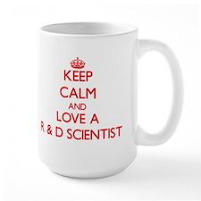 Keep Calm and Love a R D Scientist Mugs