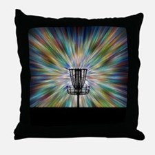 Disc Golf Basket Silhouette Throw Pillow
