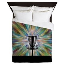 Disc Golf Basket Silhouette Queen Duvet