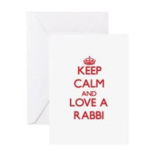 Keep Calm and Love a Rabbi Greeting Cards