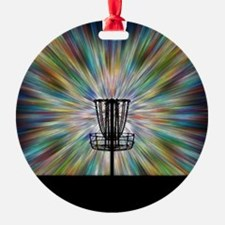 Disc Golf Basket Silhouette Ornament
