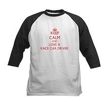 Keep Calm and Love a Race Car Driver Baseball Jers
