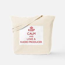 Keep Calm and Love a Radio Producer Tote Bag