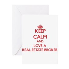 Keep Calm and Love a Real Estate Broker Greeting C