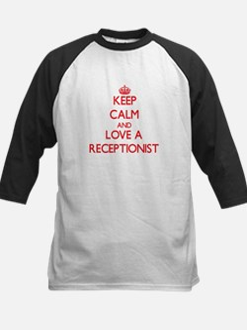 Keep Calm and Love a Receptionist Baseball Jersey