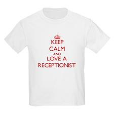 Keep Calm and Love a Receptionist T-Shirt