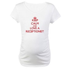 Keep Calm and Love a Receptionist Shirt