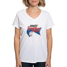 Worlds Greast Grandma Baseball Park Flag T-Shirt