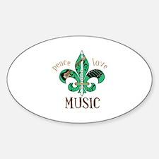 Peace Love Music Decal