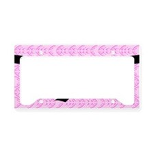 Martial Arts Kick Chick pink License Plate Holder