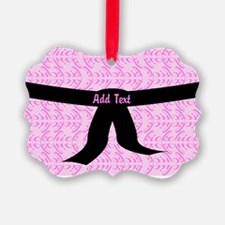 Martial Arts Kick Chick pink Ornament