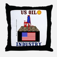 US Oil Throw Pillow