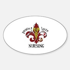 Peace Love Nursing Decal