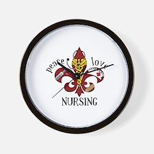 Peace Love Nursing Wall Clock