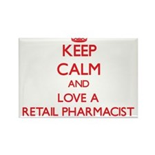 Keep Calm and Love a Retail Pharmacist Magnets