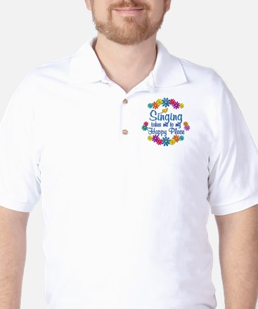 Singing Happy Place Golf Shirt
