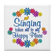 Singing Happy Place Tile Coaster