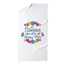 Singing Happy Place Beach Towel