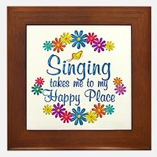 Singing Happy Place Framed Tile