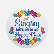 Singing Happy Place Ornament (Round)