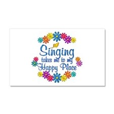 Singing Happy Place Car Magnet 20 x 12