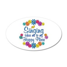 Singing Happy Place Wall Decal