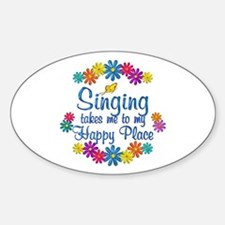 Singing Happy Place Sticker (Oval)