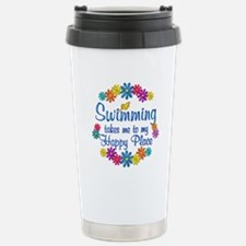 Swimming Happy Place Stainless Steel Travel Mug