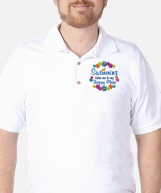 Swimming Happy Place Golf Shirt