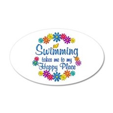 Swimming Happy Place Wall Decal