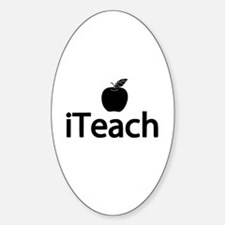iTeach Fun Design Sticker (Oval)