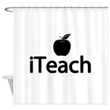 iTeach Fun Design Shower Curtain
