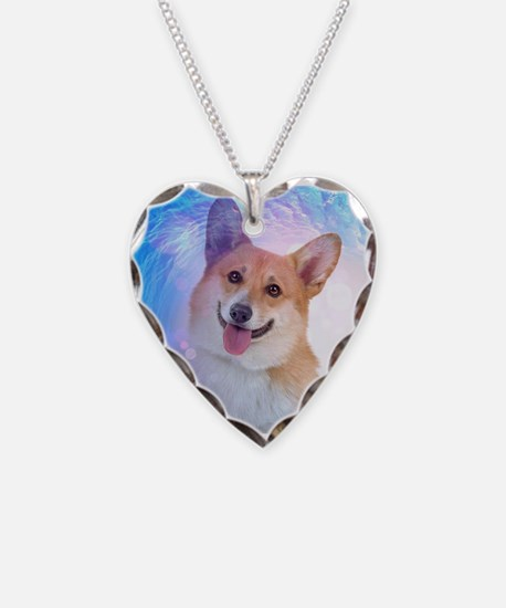 Smiling Corgi in Wave Necklace