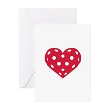 Floorball red heart Greeting Card