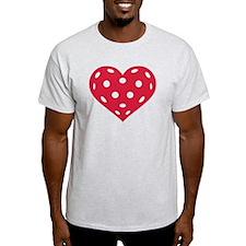 Floorball red heart T-Shirt