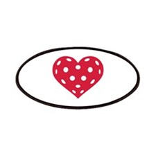 Floorball red heart Patches