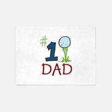 #1 Dad 5'x7'Area Rug