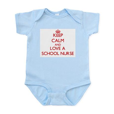 Keep Calm and Love a School Nurse Body Suit