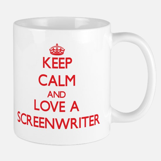 Keep Calm and Love a Screenwriter Mugs