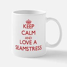 Keep Calm and Love a Seamstress Mugs