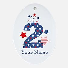 Firecracker 2nd Birthday Ornament (Oval)