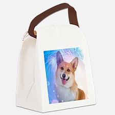 Smiling Corgi Canvas Lunch Bag