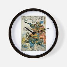 Samurai Kato Kiyomasa Wall Clock