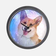 Smiling Corgi Wall Clock