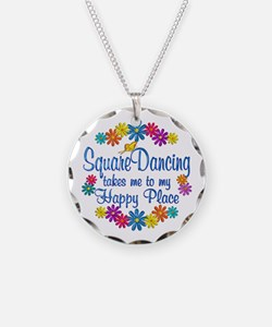 Square Dancing Happy Place Necklace