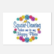 Square Dancing Happy Plac Postcards (Package of 8)