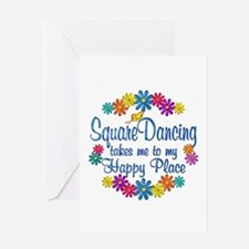 Square Dancing Happy Place Greeting Card