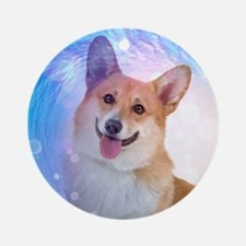 Smiling Corgi Ornament (Round)