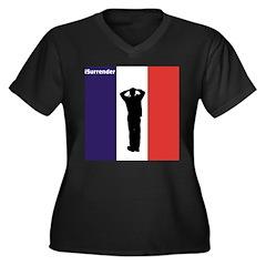iSurrender Women's Plus Size V-Neck Dark T-Shirt