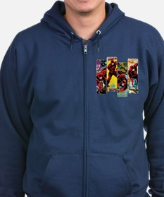 Daredevil Comic Panels Zip Hoodie (dark)
